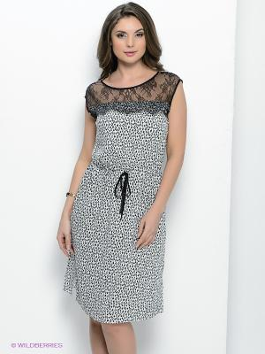 Платье Femme. Цвет: молочный, черный
