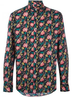 Рубашка с цветочным принтом Gabriele Pasini. Цвет: многоцветный