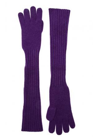 Кашемировые перчатки 143559 Barbaro Brunelli. Цвет: фиолетовый