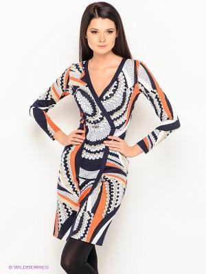 Платье Lussotico. Цвет: темно-синий