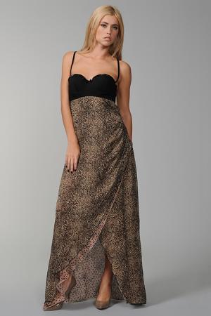 Платье VDP. Цвет: леопардовый