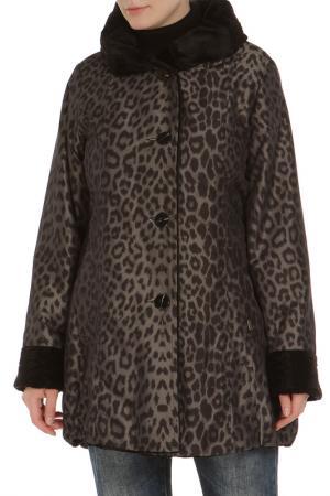 Куртка Loft. Цвет: черный, леопардовый