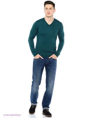 Лонгслив United Colors of Benetton. Цвет: темно-зеленый