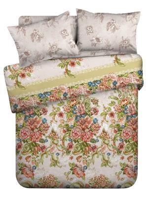 Комплект постельно белья 1,5 биоматин Императрица Унисон. Цвет: бежевый