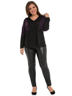 Блузка SVESTA. Цвет: черный, фиолетовый