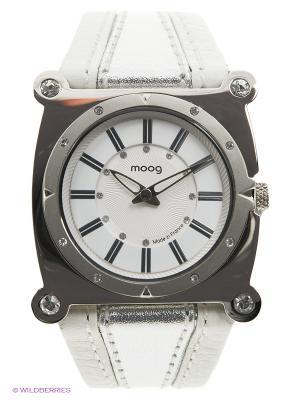 Часы MOOG. Цвет: белый, серебристый