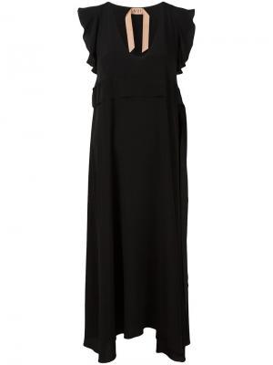 Длинное платье Nº21. Цвет: чёрный
