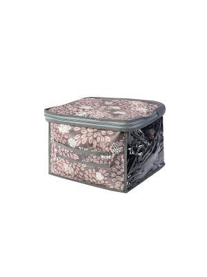 Кофр малый 30х30х20см Серебро 906 COFRET. Цвет: белый, серый, розовый