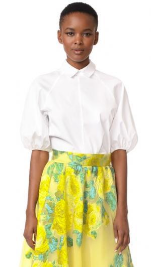 Рубашка с широкими рукавами Lela Rose. Цвет: белый
