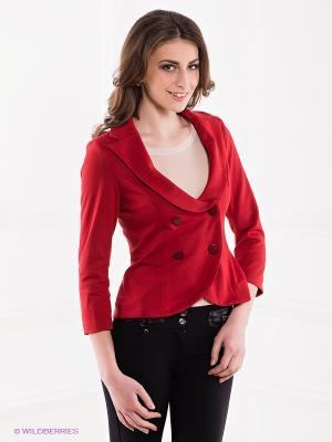 Жакет MONDIGO. Цвет: красный