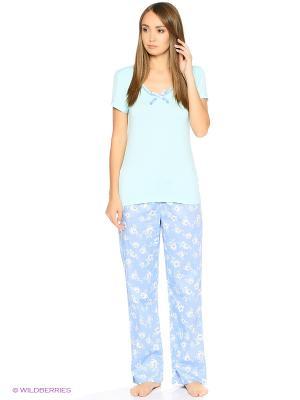 Пижамы Modis. Цвет: белый, зеленый, серый, фиолетовый, красный, розовый, желтый
