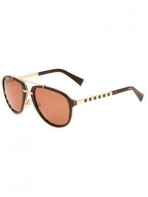 Солнцезащитные очки BLD 1621 104 Baldinini. Цвет: черный, золотистый, коричневый