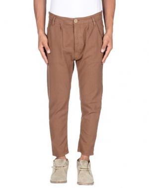 Повседневные брюки NOVEMB3R. Цвет: какао