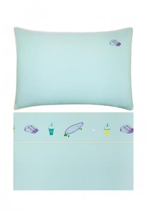 Комплект постельного белья подростковый Luxberry. Цвет: бирюзовый