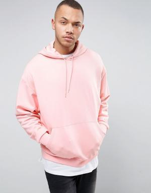 ASOS Свободное розовое худи. Цвет: розовый