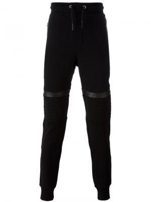 Спортивные брюки с нашивками на коленях Les Hommes. Цвет: чёрный