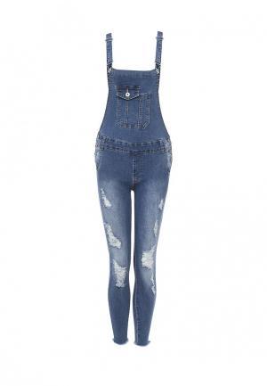 Комбинезон джинсовый By Swan. Цвет: синий