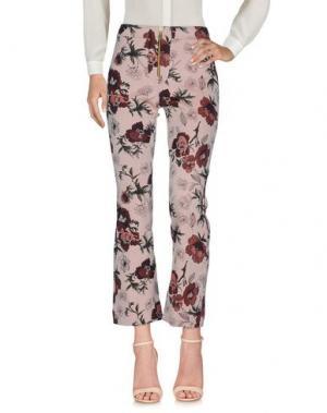 Повседневные брюки NINEMINUTES. Цвет: розовый