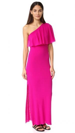 Платье с открытым плечом Fuzzi. Цвет: бегония