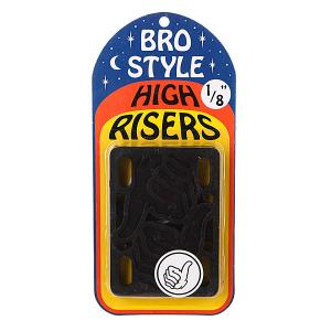 Подкладки для скейтборда  1/8 High Risers Bro Style. Цвет: черный