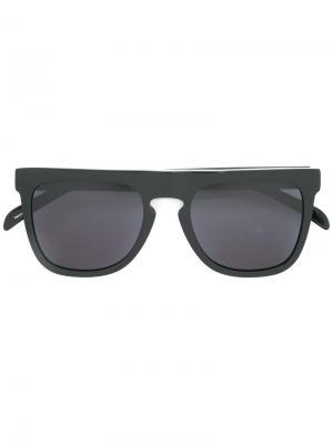 Солнцезащитные очки в квадратной оправе Komono. Цвет: чёрный