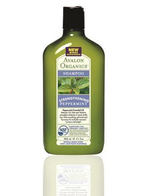 Укрепляющий шампунь с маслом мяты, 325 мл Avalon Organics. Цвет: прозрачный