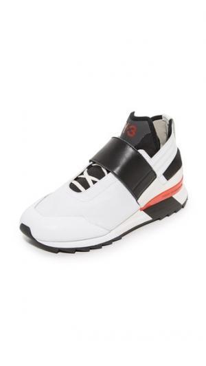 Кроссовки  Atira Y-3. Цвет: белый/черный/пламенный алый