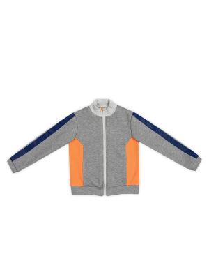 Толстовка ЕМАЕ. Цвет: серый, оранжевый