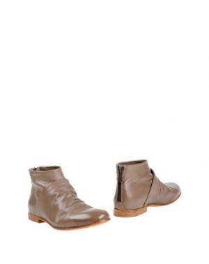 Полусапоги и высокие ботинки HUNDRED 100. Цвет: голубиный серый
