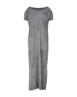 Платье длиной 3/4 BRAND UNIQUE. Цвет: серый