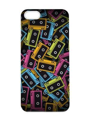 Чехол для iPhone 5/5s Кассеты Арт. IP5-061 Chocopony. Цвет: черный, голубой