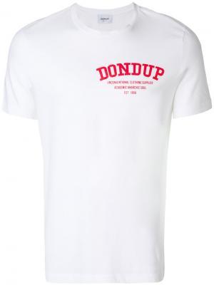 Футболка с принтом логотипа Dondup. Цвет: белый