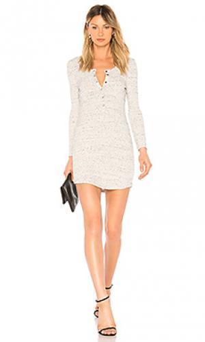 Платье David Lerner. Цвет: светло-серый