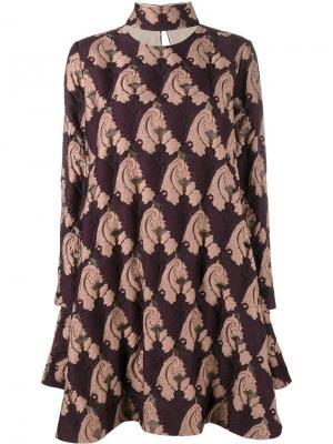 Платье Luisa Emilia Wickstead. Цвет: розовый и фиолетовый