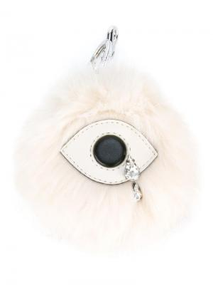 Брелок в форме глаза Stella McCartney. Цвет: белый
