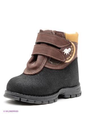 Ботинки Детский скороход. Цвет: черный, коричневый