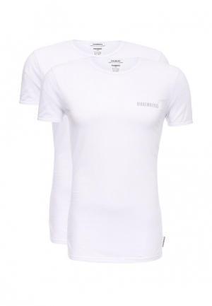 Комплект футболок 2 шт. Bikkembergs. Цвет: белый