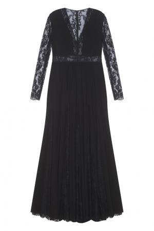 Шелковое платье Zuhair Murad. Цвет: черный
