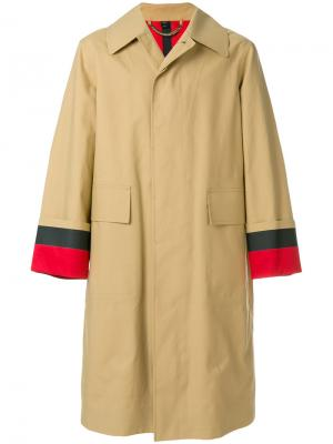 Oversized car trench coat Burberry. Цвет: коричневый