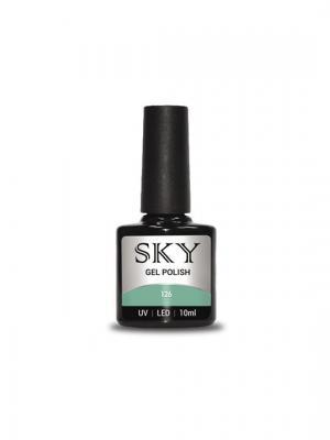 Гель-лак SKY 10 мл №126,. Цвет: оливковый, серый
