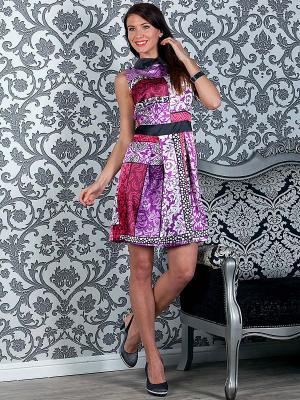 Платье MARY MEA. Цвет: фуксия, черный, фиолетовый