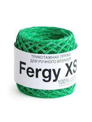 Пряжа Fergy XS. Цвет: зеленый, белый