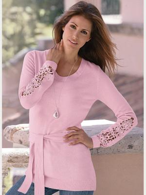 Пуловер Together. Цвет: розовый (осн.)