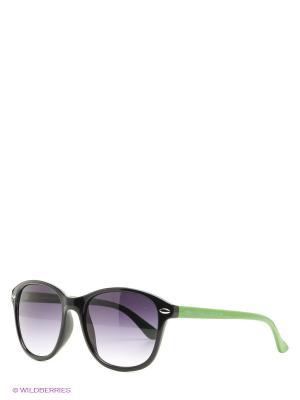 Солнцезащитные очки United Colors of Benetton. Цвет: черный, зеленый