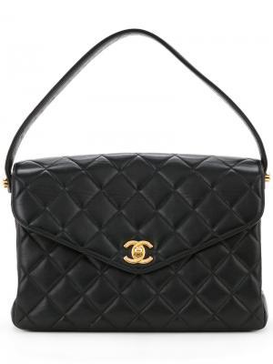 Flap quilted shoulder bag Chanel Vintage. Цвет: чёрный