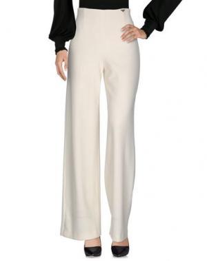 Повседневные брюки MARIA GRAZIA SEVERI. Цвет: слоновая кость