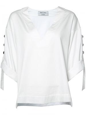 Блузка-туника Prabal Gurung. Цвет: белый