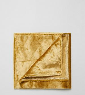 Noose & Monkey Платок для нагрудного кармана из мятого бархата. Цвет: золотой