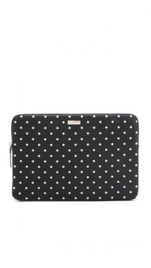 Чехол Mini Pavillion в горошек для ноутбука с диагональю экрана 15 дюймов Kate Spade New York. Цвет: черный/кремовый