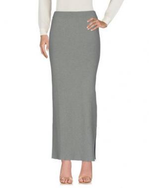 Длинная юбка BRUNO MANETTI. Цвет: зеленый-милитари